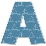 Rope Sail Boats Letter Decal - Custom Sized (Personalized)