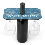 Rope Sail Boats Wine Bottle & Glass Holder (Personalized)