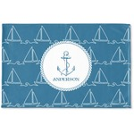 Rope Sail Boats Woven Mat (Personalized)