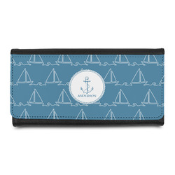 Rope Sail Boats Leatherette Ladies Wallet (Personalized)