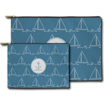 Rope Sail Boats Zipper Pouch (Personalized)