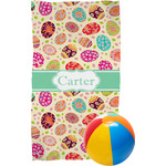 Easter Eggs Beach Towel (Personalized)