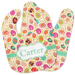 Easter Eggs Baby Bib w/ Name or Text