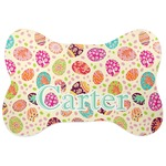 Easter Eggs Bone Shaped Dog Food Mat (Personalized)
