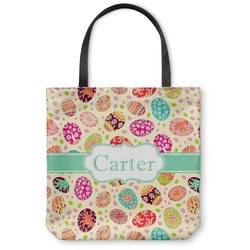 Easter Eggs Canvas Tote Bag (Personalized)