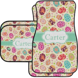Easter Eggs Car Floor Mats Set - 2 Front & 2 Back (Personalized)