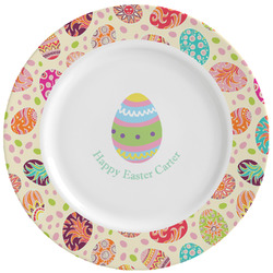 Easter Eggs Ceramic Dinner Plates (Set of 4) (Personalized)
