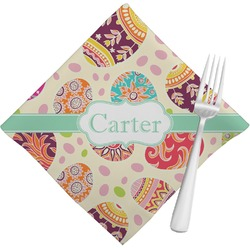 Easter Eggs Napkins (Set of 4) (Personalized)