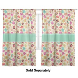 "Easter Eggs Curtains - 56""x80"" Panels - Lined (2 Panels Per Set) (Personalized)"