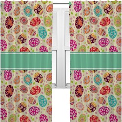 Easter Eggs Curtains (2 Panels Per Set) (Personalized)