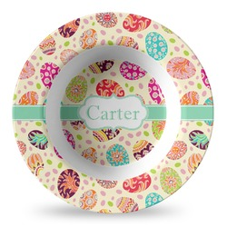 Easter Eggs Plastic Bowl - Microwave Safe - Composite Polymer (Personalized)