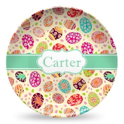 Easter Eggs Microwave Safe Plastic Plate - Composite Polymer (Personalized)