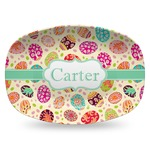 Easter Eggs Plastic Platter - Microwave & Oven Safe Composite Polymer (Personalized)