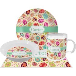 Easter Eggs Dinner Set - Single 4 Pc Setting w/ Name or Text