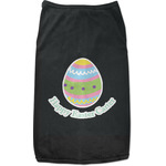 Easter Eggs Black Pet Shirt (Personalized)