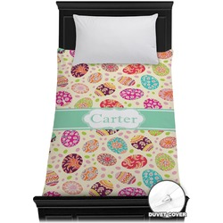 Easter Eggs Duvet Cover - Twin (Personalized)