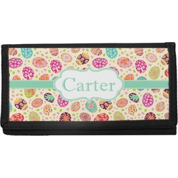 Easter Eggs Canvas Checkbook Cover (Personalized)
