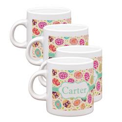 Easter Eggs Espresso Mugs - Set of 4 (Personalized)