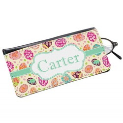 Easter Eggs Genuine Leather Eyeglass Case (Personalized)