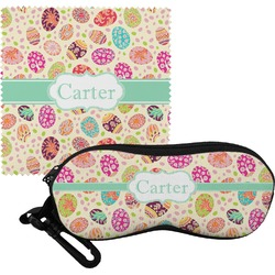 Easter Eggs Eyeglass Case & Cloth (Personalized)