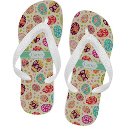 Easter Eggs Flip Flops - Large (Personalized)