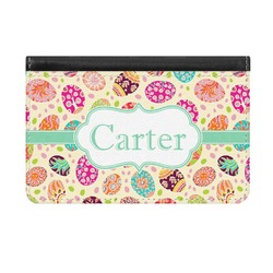 Easter Eggs Genuine Leather ID & Card Wallet - Slim Style (Personalized)
