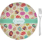 """Easter Eggs Glass Appetizer / Dessert Plates 8"""" - Single or Set (Personalized)"""