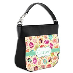 Easter Eggs Hobo Purse w/ Genuine Leather Trim (Personalized)