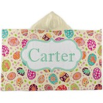 Easter Eggs Kids Hooded Towel (Personalized)