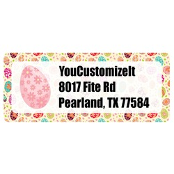 Easter Eggs Return Address Label (Personalized)