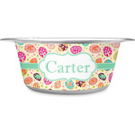 Easter Eggs Stainless Steel Dog Bowl (Personalized)