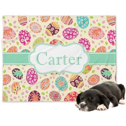 Easter Eggs Minky Dog Blanket (Personalized)