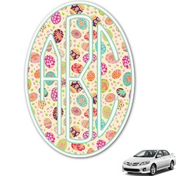 Easter Eggs Monogram Car Decal (Personalized)