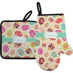 Easter Eggs Oven Mitt & Pot Holder (Personalized)