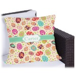 Easter Eggs Outdoor Pillow (Personalized)