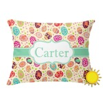Easter Eggs Outdoor Throw Pillow (Rectangular) (Personalized)