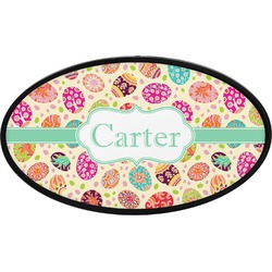Easter Eggs Oval Trailer Hitch Cover (Personalized)