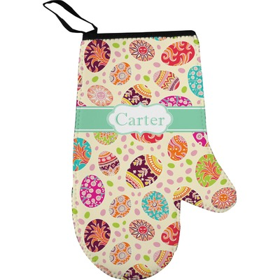 Easter Eggs Right Oven Mitt (Personalized)