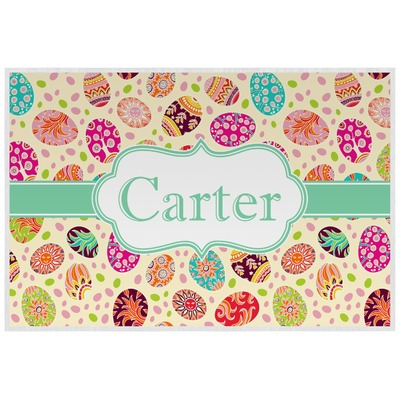 Easter Eggs Laminated Placemat w/ Name or Text