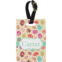 Easter Eggs Rectangular Luggage Tag (Personalized)
