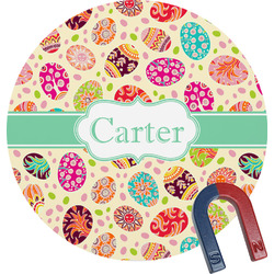 Easter Eggs Round Fridge Magnet (Personalized)