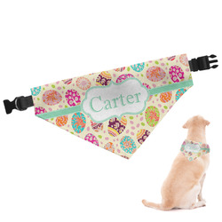 Easter Eggs Dog Bandana - Large (Personalized)