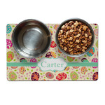 Easter Eggs Pet Bowl Mat (Personalized)
