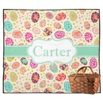 Easter Eggs Outdoor Picnic Blanket (Personalized)
