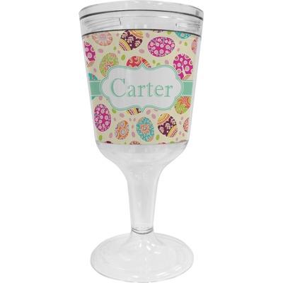 Easter Eggs Wine Tumbler - 11 oz Plastic (Personalized)