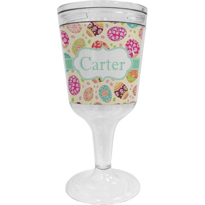 Easter Eggs Wine Tumbler - 11 oz Plastic (Personalized)