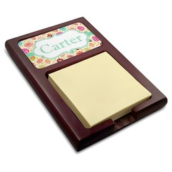 Easter Eggs Red Mahogany Sticky Note Holder (Personalized)