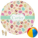 Easter Eggs Round Beach Towel (Personalized)