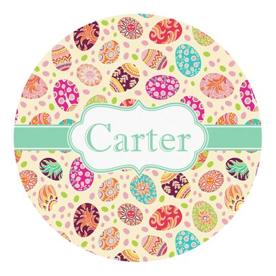 Easter Eggs Round Decal (Personalized)
