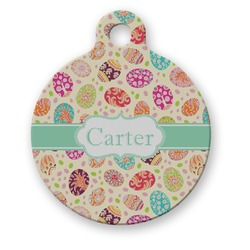 Easter Eggs Round Pet Tag (Personalized)